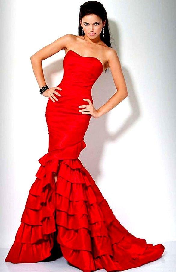 Cap sleeve long dress 90676 red 05