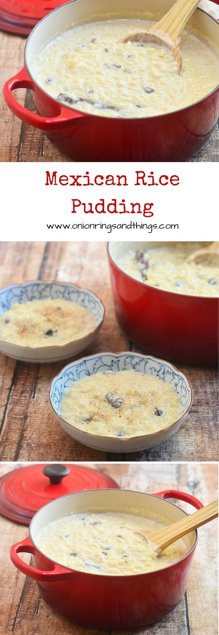 Mexican rice pudding or also known as arroz con leche is a delicious, gluten-free treat  made with rice, milk, cinnamon and raisins. Wonderful as dessert yet equally great as anytime snack