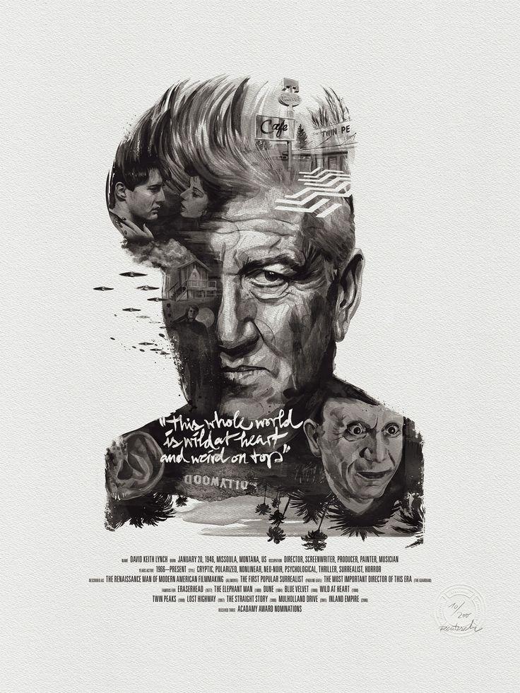 david lynch - Movie director portraits created through their movies