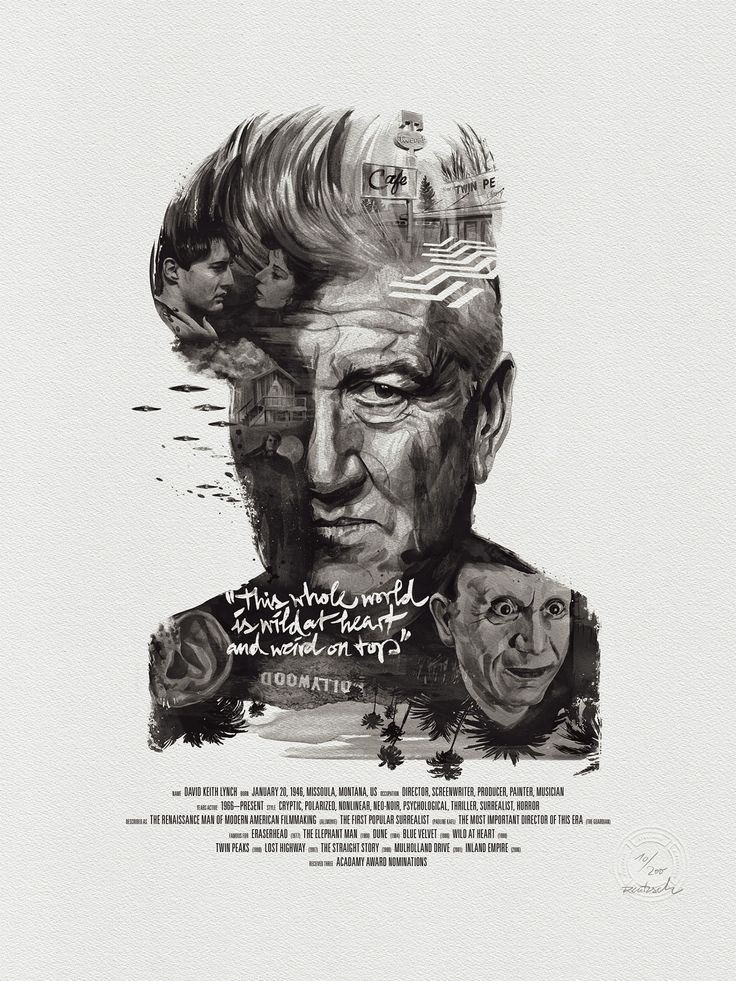 david lynch - Movie director portraits created through their movies