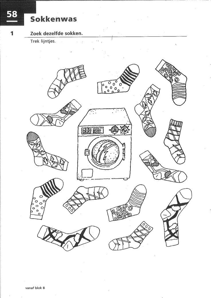 Werkblad: zoek dezelfde sokken