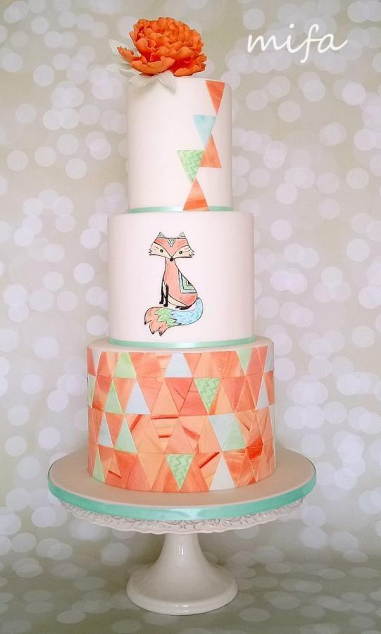 Mosaic Fox Cake by Michaela Fajmanova