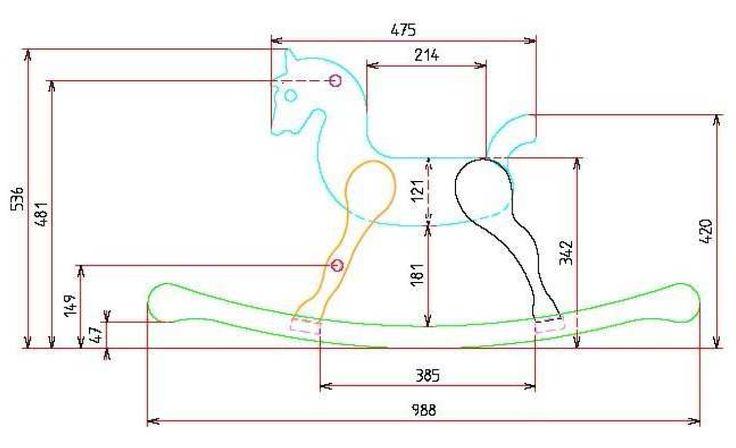 Plan construire fabriquer cheval bascule 1 jeux for Cheval a bascule exterieur