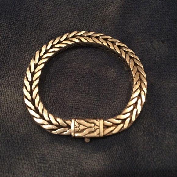 Authentic John Hardy bracelet 84 g. of sterling silver in this authentic John Hardy bracelet. Signed in 1993 & made in Indonesia. John Hardy Jewelry Bracelets