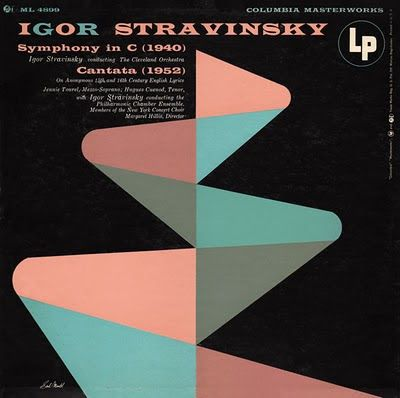 vintage album cover – Igor Stravinksy Symphony in C