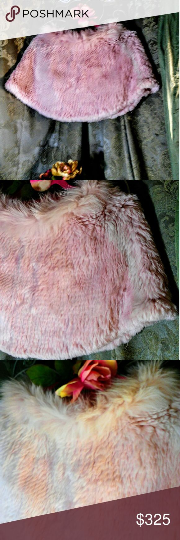 RARE!! IL FAIT FROID  AUTHENTIC VINTAGE FUR SHRUG THIS IS MY FAVORITE THING!  French vintage IL Fait Froid blush 100% fox fur with a 100% rabbit collar! Condition is Christine. One size. Has been stored and cared for correctly. IL Fait Froid Sweaters Shrugs & Ponchos