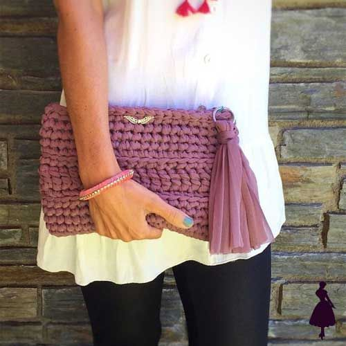 Ideas de cómo usar un clutch | Bolsos de ganchillo, Ganchillo trapillo, Clutch de ganchillo