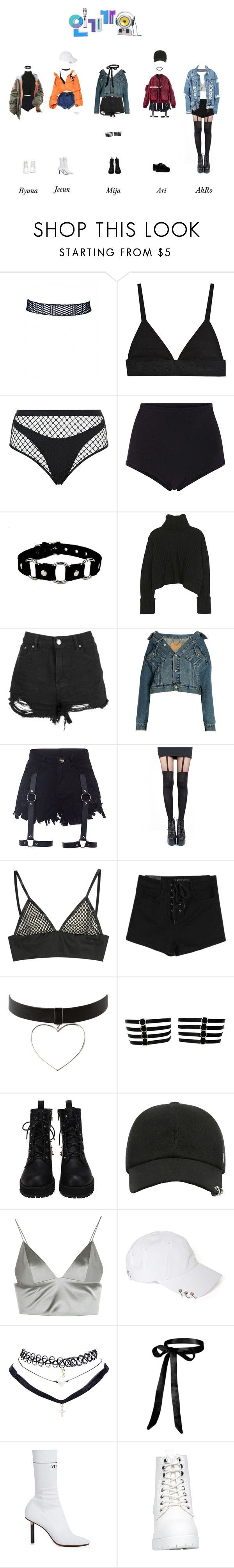 """""""elc - loser : DEBUT STAGE"""" by officialelc ❤ liked on Polyvore featuring Agent Provocateur, Cynthia Rowley, Boohoo, Balenciaga, Pretty Polly, T By Alexander Wang, Wet Seal and Vetements"""
