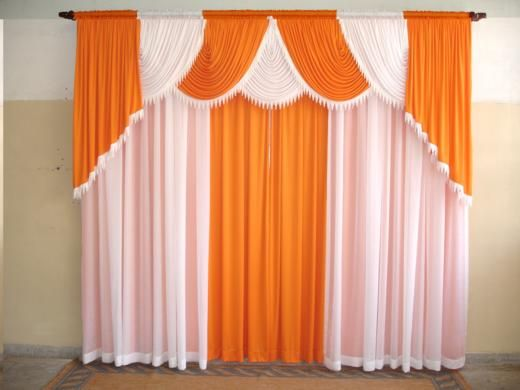 Naranja y bca cortinas pinterest for Cortinas naranjas