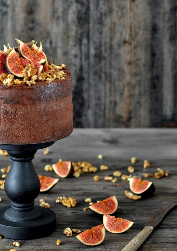 Chocolate Walnut and Fig Cake