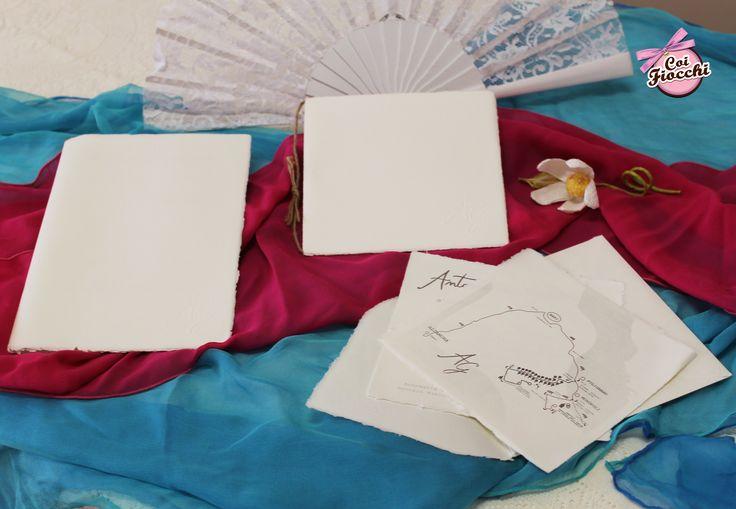 Libretto messa e coordinato nozze in carta d'Amalfi per Gennaro&Antonella