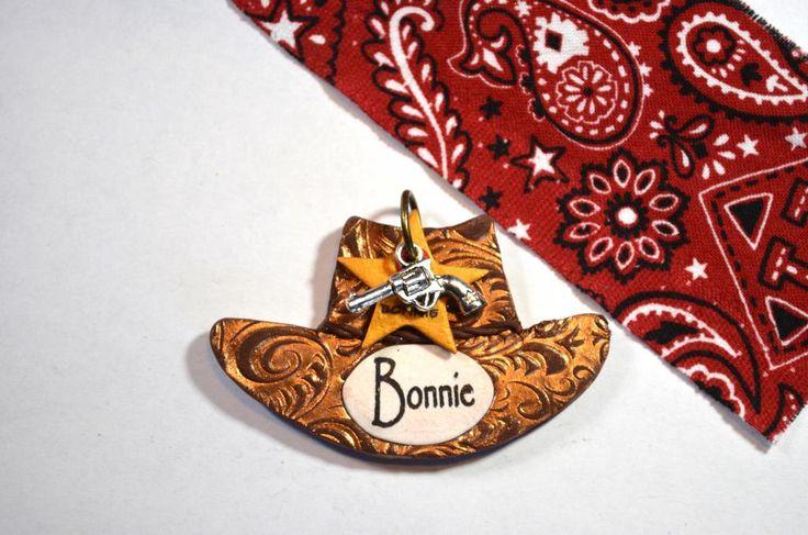 Cowboy Hat (made for a collar & custom tag set).