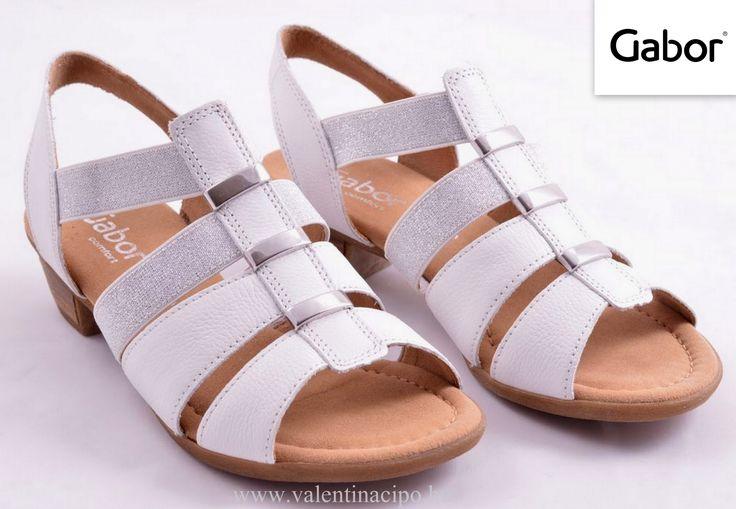 Gabor női fehér szandál a Valentina Cipőboltokban és webáruházunkban :)  http://valentinacipo.hu/gabor/noi/feher/szandal/141639240  #gabor #gabor_szandál #Valentina_Cipőboltok