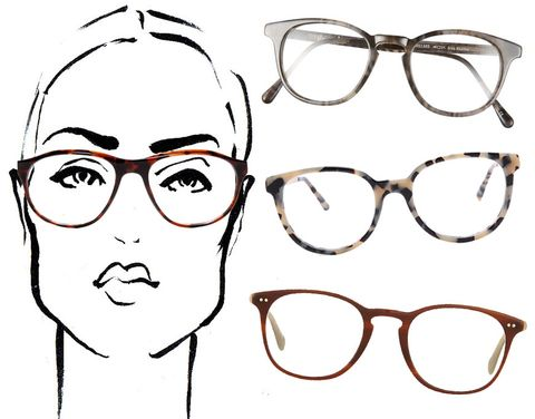 If you have a square face, look for a style with a rounded lense and a flat top, as it will add just the right amount of shape to your face.