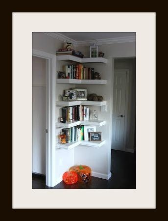 A great idea for utilizing an empty space in the house and adding a functional and interesting visual point.