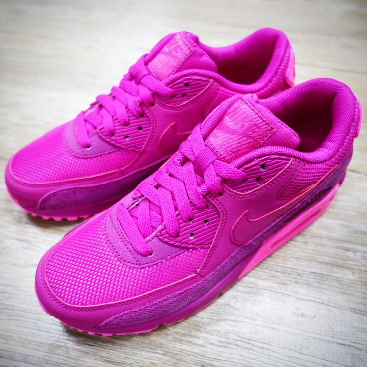 Nike Wmns Air Max 90 PRM Fireberry Pink 2015 Womens NSW Premium Running  Shoes