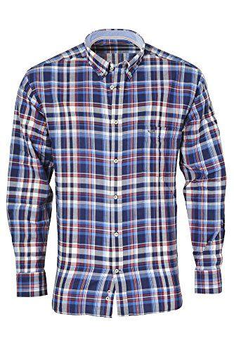 Paul & Shark Camicia Uomo Blu Bianco,Rosso cotone normale maglia casual Casual Polsino singolo con 1 bottone 39