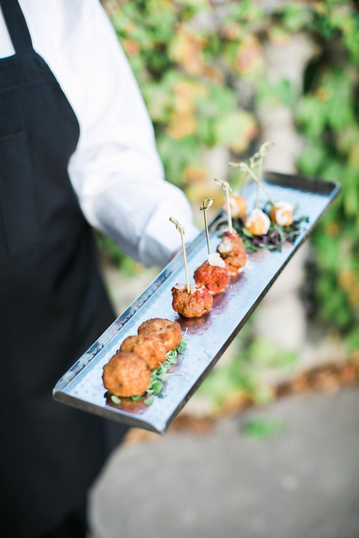 Cocktail Hour Fried Mac and Cheese Bites   Photo: Stephanie Brazzle Photography   Food: CN Catering  