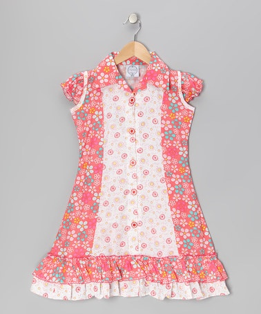 Coral Floral Mod Sundress - Infant, Toddler & Girls by Vintage Circus on #zulily today!