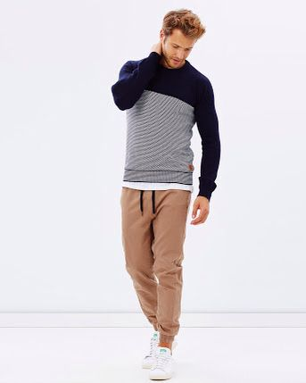 The Academy Brand Finlay Panel Knit