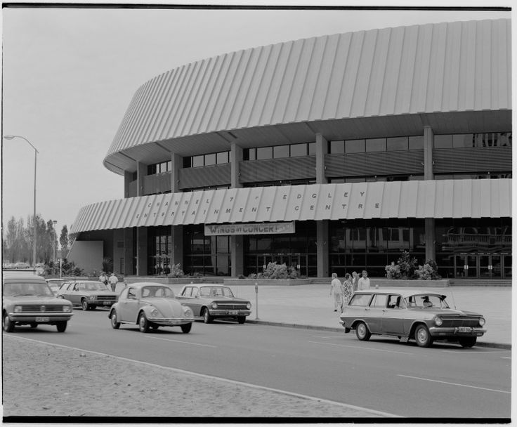 325876PD: Perth Entertainment Centre with a sign for Wings in concert (sold out), ca.1974 http://encore.slwa.wa.gov.au/iii/encore/record/C__Rb5558661