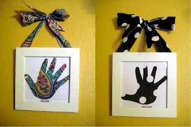 Mother's day or Father's day arts and crafts from toddler or preschool kids