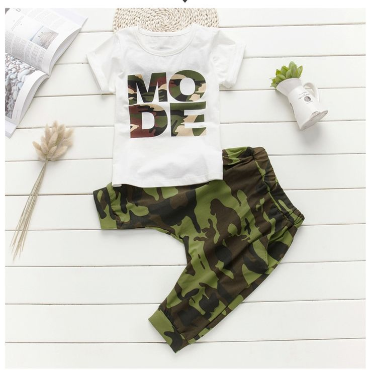 16.57$  Buy now - http://alilz3.shopchina.info/go.php?t=32802076464 - Camouflage kids Summer suits for boys Boy set kids hip hop clothing Boys set Cotton t-shirt+shorts 2pcs for 3 5 6 8 10 12 years6  #aliexpress