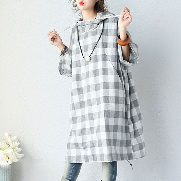 Women Autumn Casual Loose Hoodie Coat