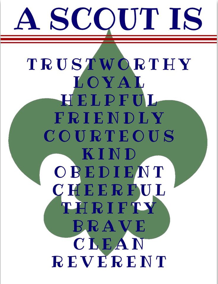 A scout is trustworthy, loyal, helpful, etc. printable for Eagle Scout decor