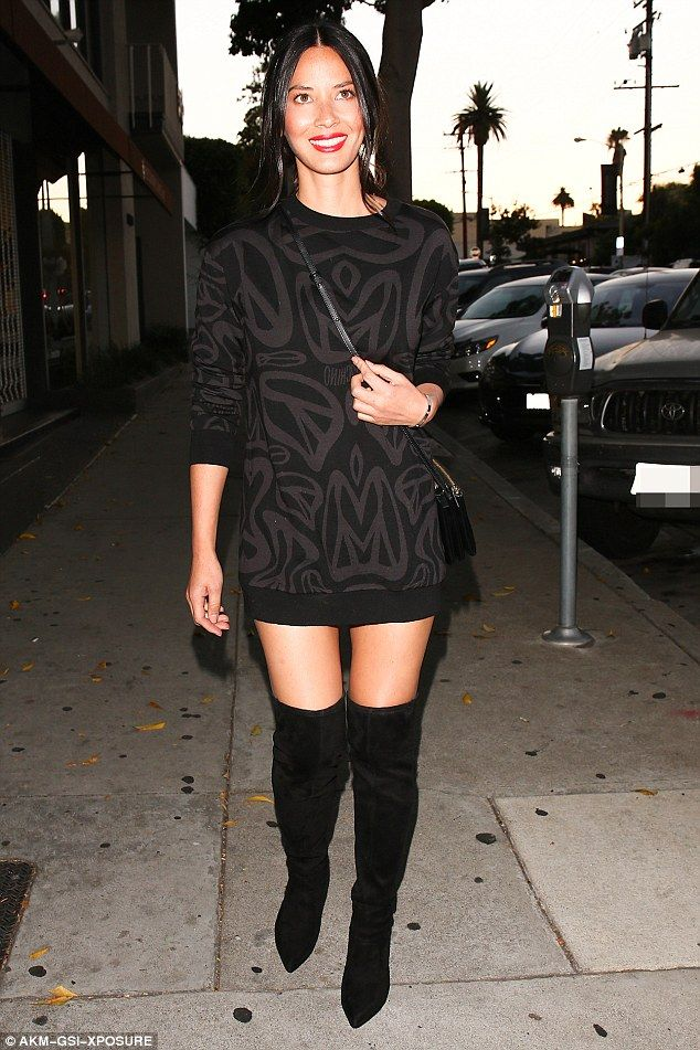 Putting her best foot forward! Olivia Munn ensured all eyes would be on her as she made her extremely stylish entrance to the West Hollywood restaurant on Saturday