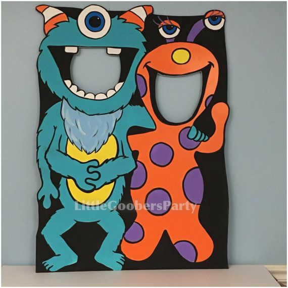 Monstre Photo Booth Prop. 1 grand monstre par LittleGoobersParty