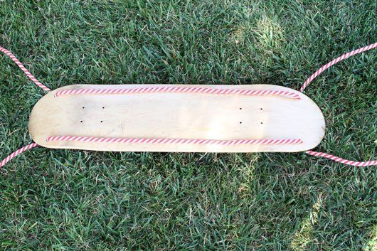 Summer DIY: Make Your Own Skateboard Deck Swing- way cooler than a tire swing (plus you don't get black marks all over you :) )