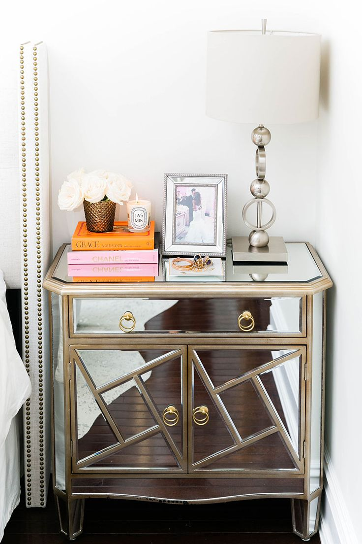 Best 25 mirrored side tables ideas on pinterest mirror furniture mirrored nightstand and for Mirrored side tables for bedroom