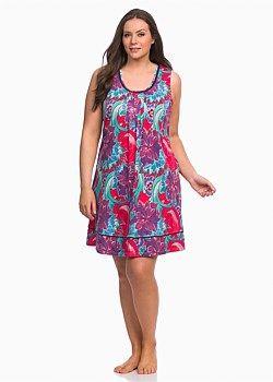 Lilac Garden Nightie #takingshape #curvy #plussize #sleepwear