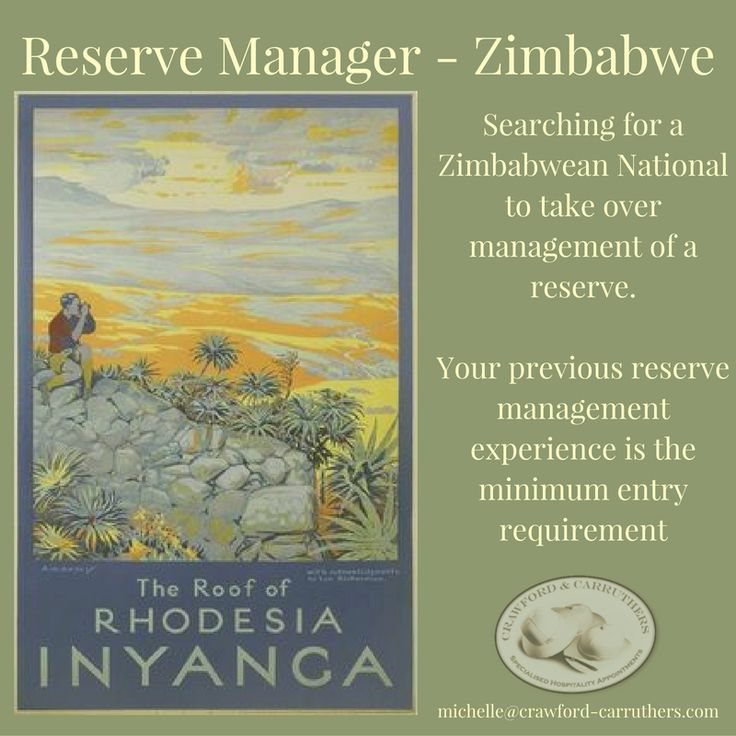 Reserve manager needed for Zimbabwe