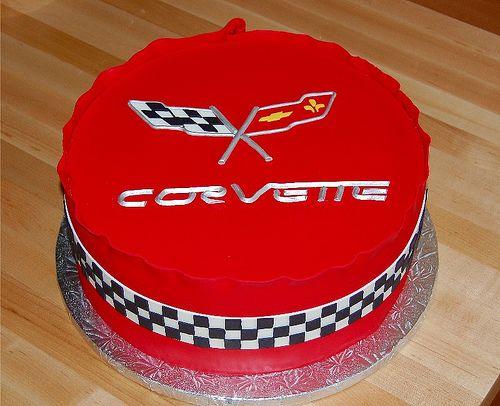 Happy Birthday Corvette Cake
