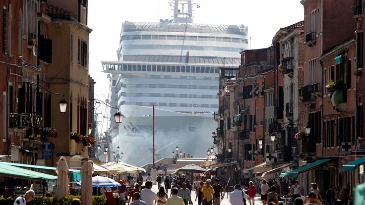 The MSC Divina cruise ship is seen in Venice lagoon, Italy June 16, 2012