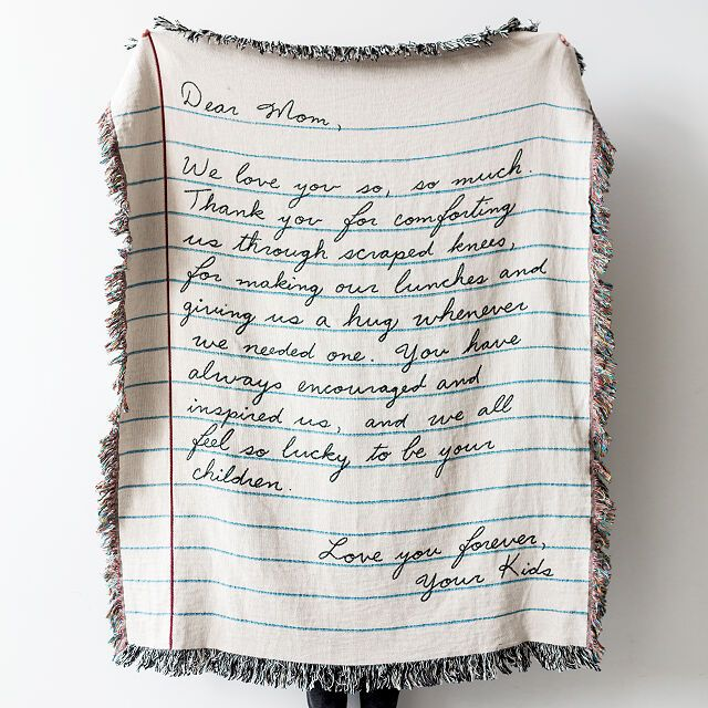Personalized Hand Written Letter Blanket | Home Decor, Bedding