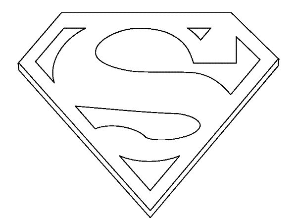Superman logo coloring pages coloring pages pinterest for Coloring pages of superman logo