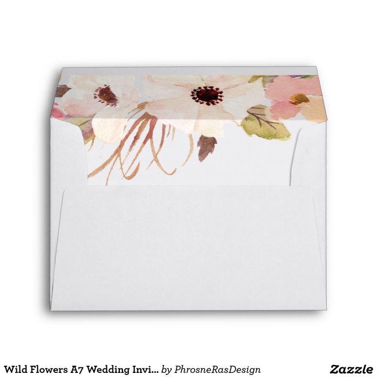 zazzle wedding invitations promo code%0A Wild Flowers A  Wedding Invitation Envelope