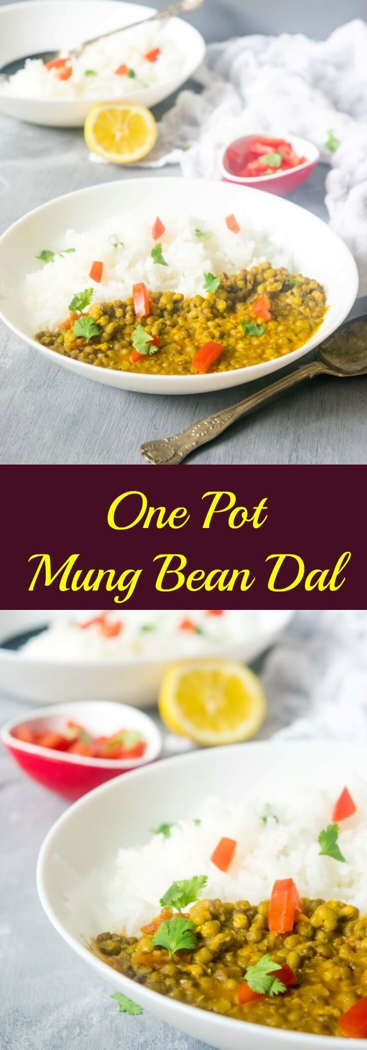 Easy one pot mung bean dal recipe that makes for a really delicious, comforting and healthy meal! This dal requires only a few basic ingredients and spices you might already have in your pantry. | thelastcookie.ca