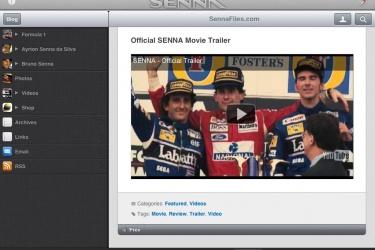 SENNA App for iPhone and iPad is a Tribute App to the Brazilian race car driver Ayrton Senna da Silva