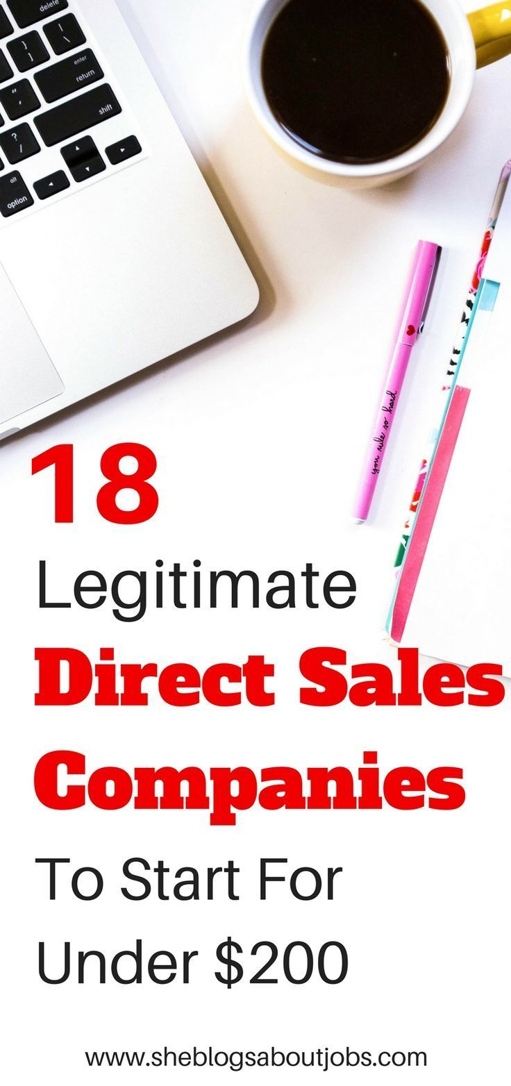 18 direct sales companies you can start for under $200!