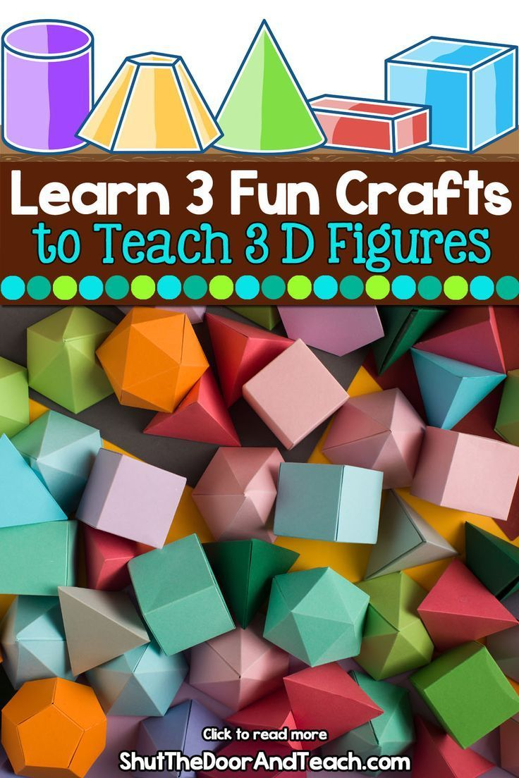 Constructing 3 Dimensional Figures Teaching Geometry Teaching