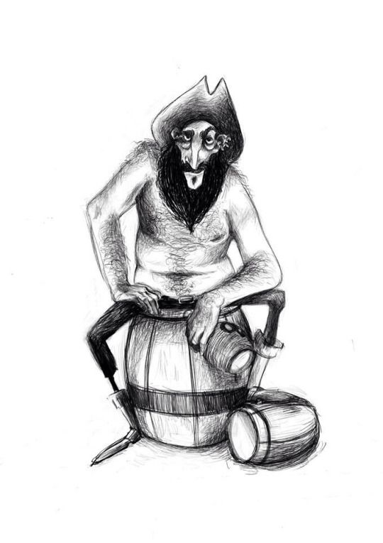 Drunk #pirate #characterdesign Valentina Millosevich - Art of Val
