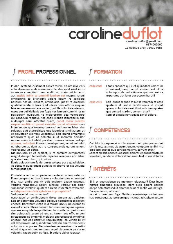 exemple de cv esth u00e9tique cj56