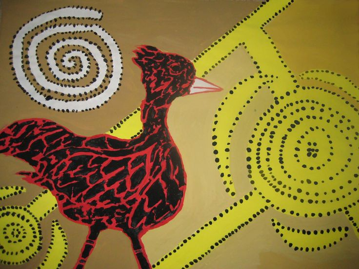 Middle School--Aboriginal Dot Painting
