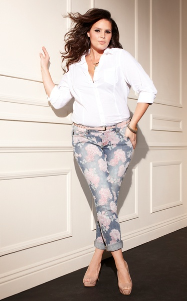 these pants are at Torrid! - Candice Huffine