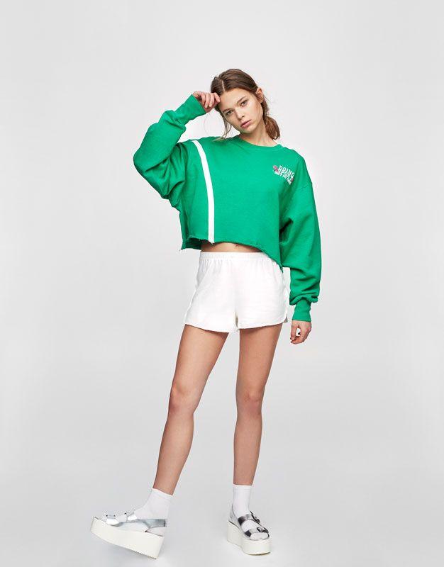 Plush fabric basic shorts - Shorts - Clothing - Woman - PULL&BEAR United Kingdom