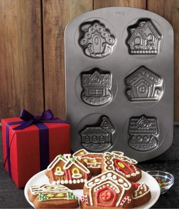ginger bread house pan.  Ginger Bread house station:   Cover cookies in fondant and have guests decorate with food coloring pen...